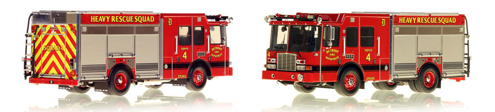 Detroit's Heavy Rescue Squad 4 is hand-crafted and intricately detailed.