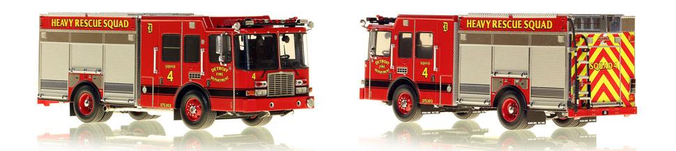 1:50 scale model of Detroit Fire Department HME Heavy Rescue Squad 4