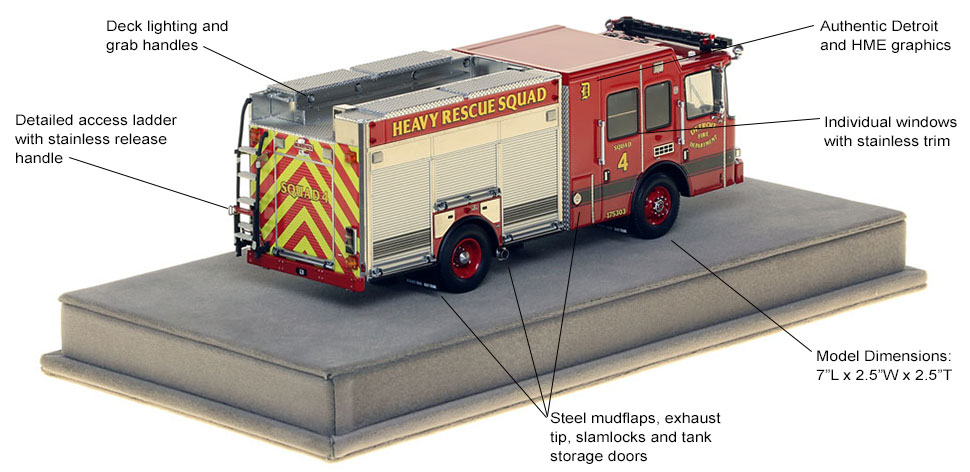 Specs and features of Detroit Heavy Rescue 4 scale model