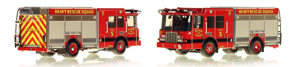 Detroit Fire Department Heavy Rescue Squad 5 scale model