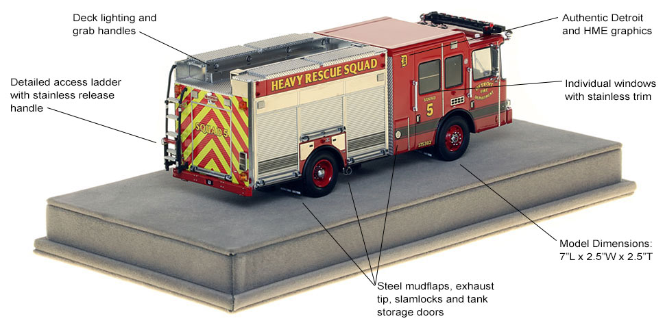 Specs and features of Detroit Heavy Rescue 5 scale model