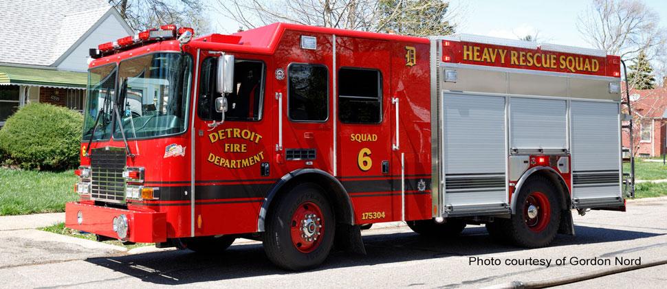 Detroit Fire Department Heavy Rescue Squad 6 courtesy of Gordon Nord