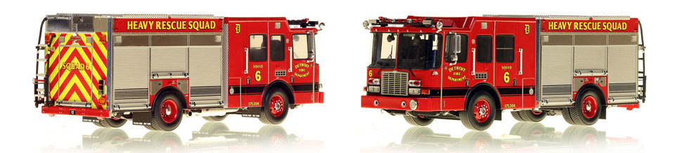 Detroit's Heavy Rescue Squad 6 is hand-crafted and intricately detailed.