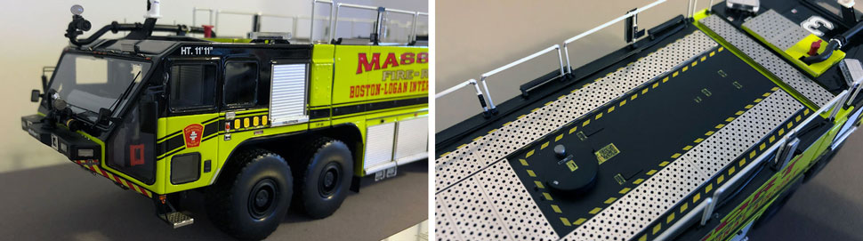 Closeup pictures 3-4 of Massport Fire Rescue Engine 3 scale model