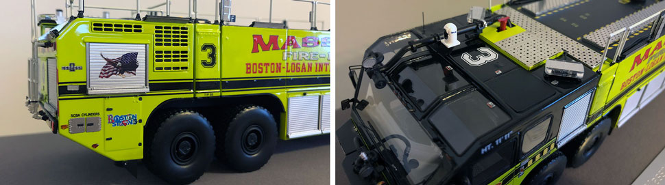 Closeup pictures 5-6 of Massport Fire Rescue Engine 3 scale model
