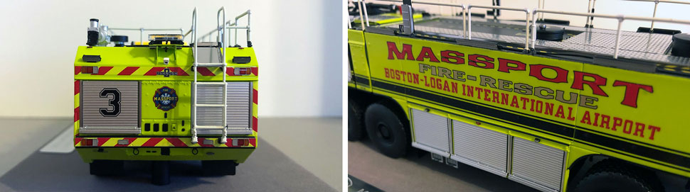 Closeup pictures 7-8 of Massport Fire Rescue Engine 3 scale model