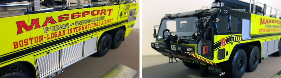 Closeup pictures 1-2 of Massport Fire Rescue Engine 4 scale model