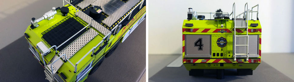 Closeup pictures 3-4 of Massport Fire Rescue Engine 4 scale model