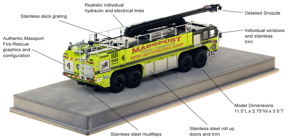 Specs and features of Massport's Engine 4 scale model