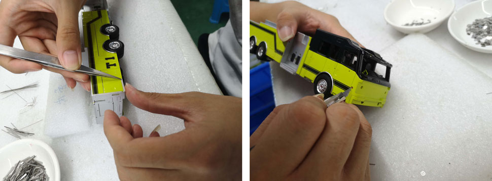Massport Fire-Rescue Truck 1 scale model assembly pic 17-18