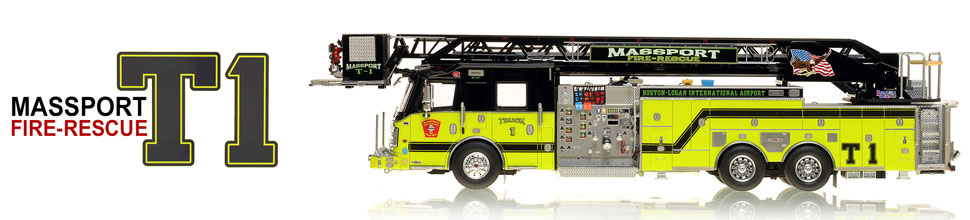 Truck 1...the first museum grade scale model Aerial Platform for Massport Fire-Rescue