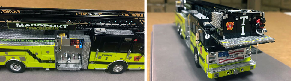 Close up pictures 5-6 of Massport Fire Rescue Truck 1 scale model