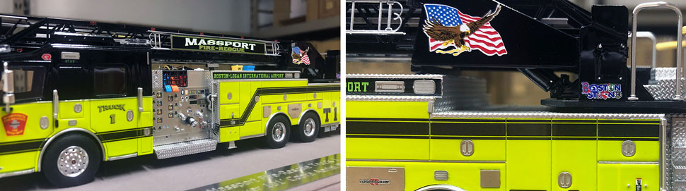 Close up pictures 9-10 of Massport Fire Rescue Truck 1 scale model