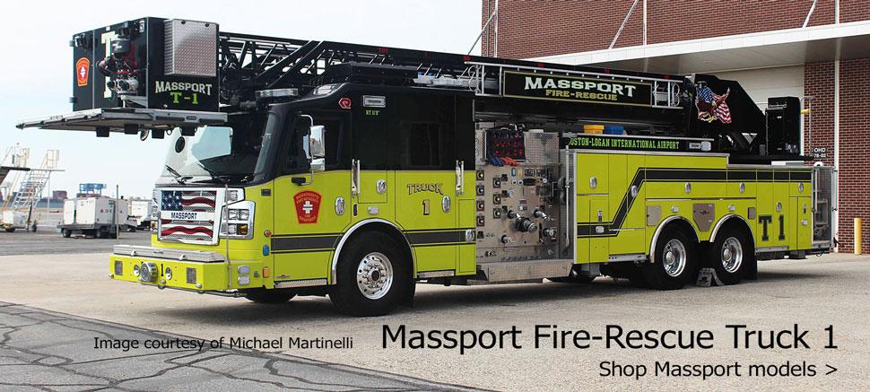 Shop Massport Fire-Rescue structural and ARFF fire apparatus