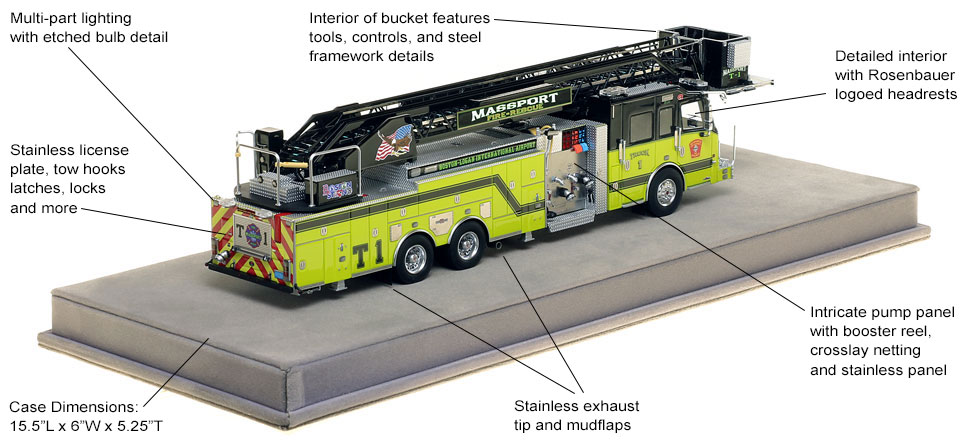 Specs and features of Massport's Truck 1 scale model