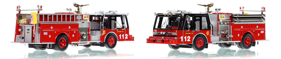 Chicago E-One Hurricane Engine 112 scale model is hand-crafted and intricately detailed.
