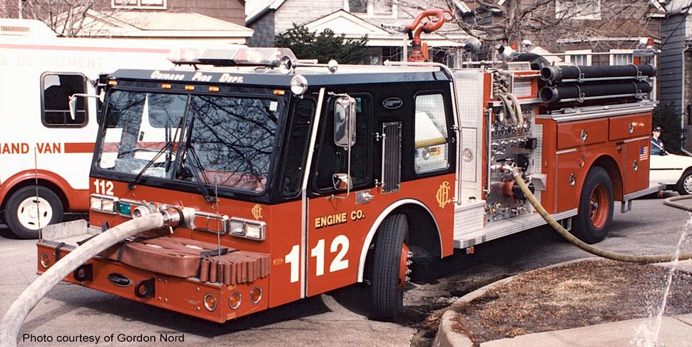Chicago E-One Hurricane Engine 112 courtesy of Gordon Nord