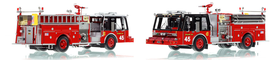 Chicago E-One Hurricane Engine 45 scale model is hand-crafted and intricately detailed.
