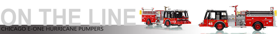 Assembly pictures of Chicago E-One Hurricane Pumper scale models