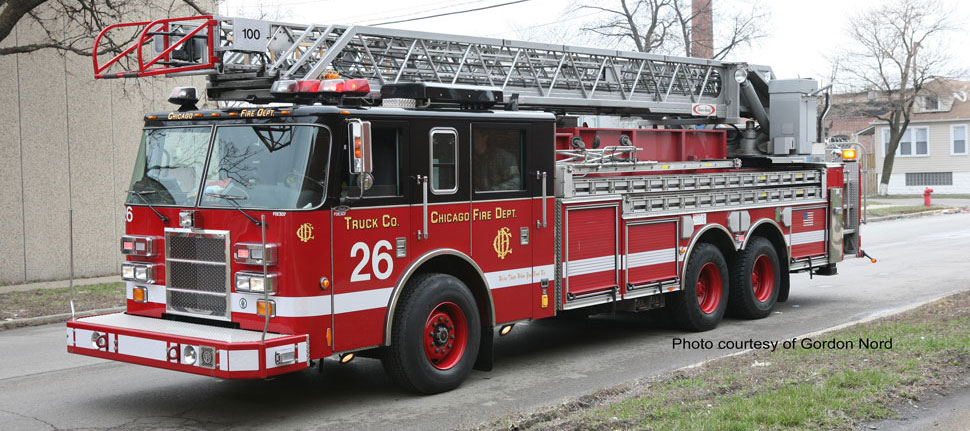 Chicago Fire Department Truck 26 courtesy of Gordon Nord