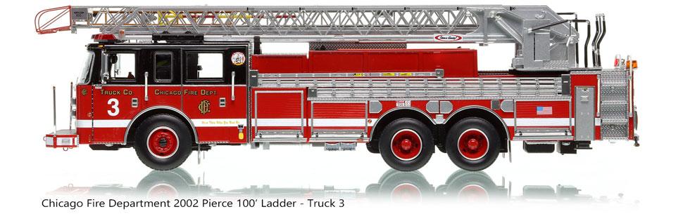 Chicago's 2002 Pierce Dash 100' Aerial - Truck 3 scale model