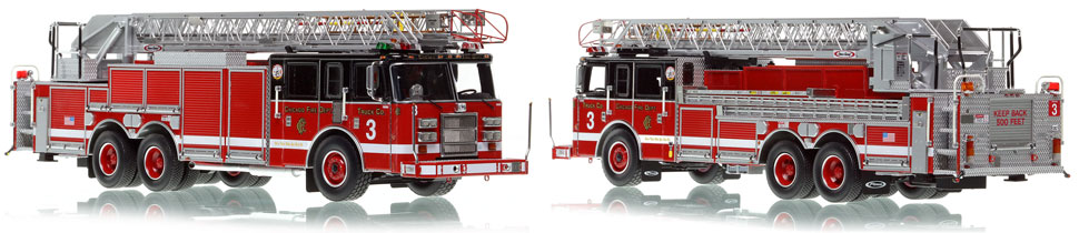 Chicago's 2002 Truck 3 is hand-crafted and intricately detailed.