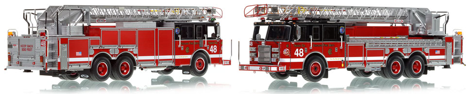 Chicago's 2002 Truck 48 is hand-crafted and intricately detailed.
