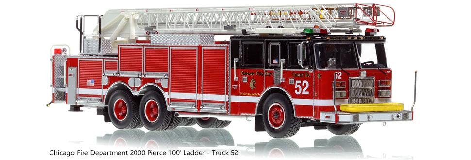 Chicago Pierce Dash Ladder - Truck 52 scale model