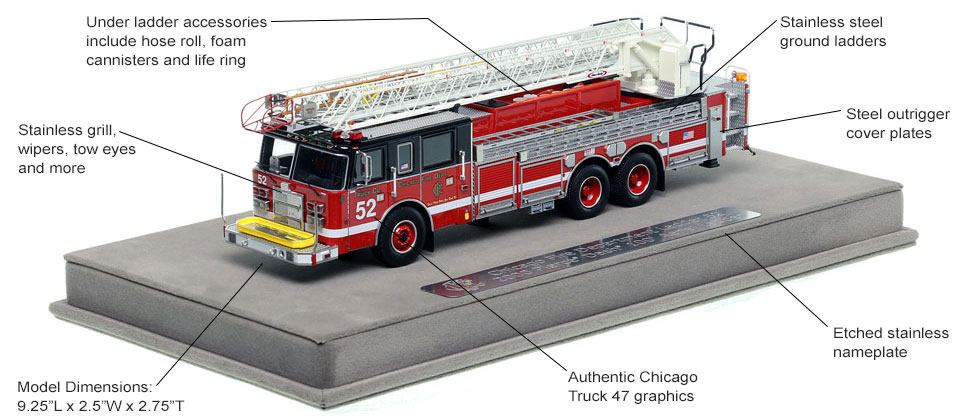 Features and Specs of Chicago's 2000 Truck 52 scale model