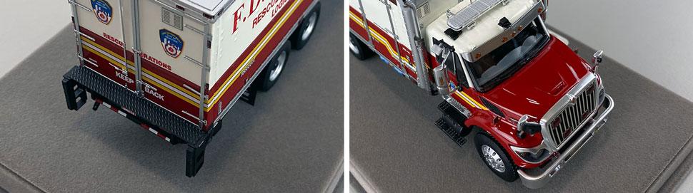 Closeup pics 5-6 of FDNY Rescue Operations Logistics 2 scale model