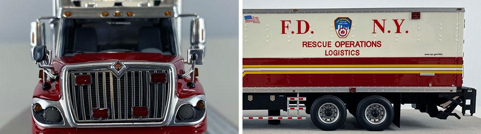 Closeup pics 3-4 of FDNY Rescue Operations Logistics 2 scale model