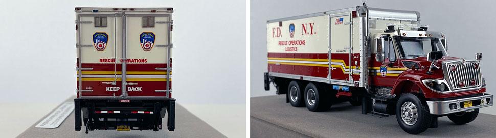 Closeup pics 1-2 of FDNY Rescue Operations Logistics 2 scale model