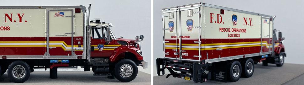 Closeup pics 11-12 of FDNY Rescue Operations Logistics 2 scale model