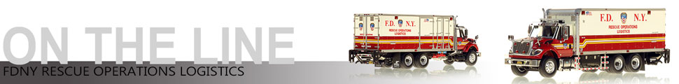 Assembly pics of FDNY Rescue Operations Logistics scale model