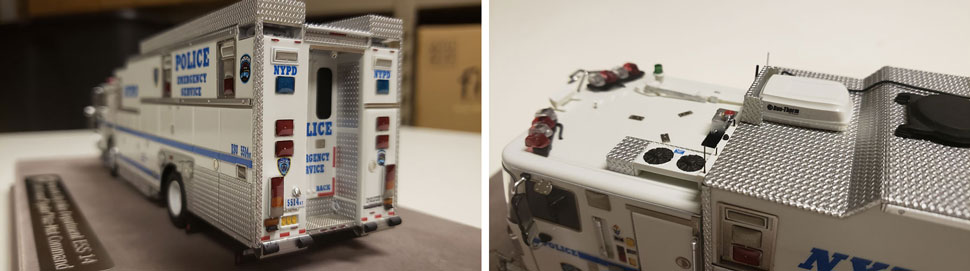 Closeup pictures 3-4 of NYPD HazMat Command ESS 14 scale model