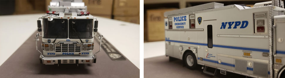 Closeup pictures 11-12 of NYPD HazMat Command ESS 14 scale model