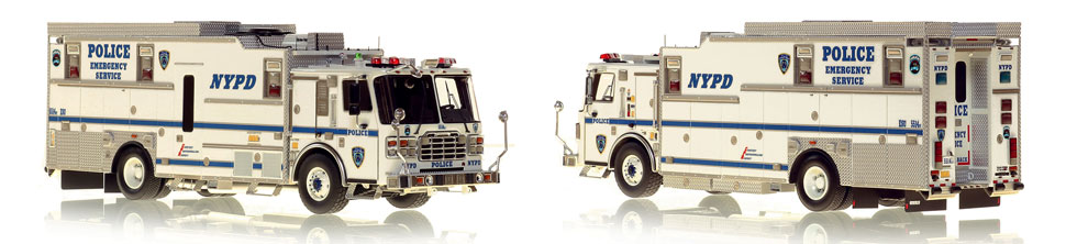 1:50 museum grade scale model of NYPD ESS 14 Haz-Mat Command