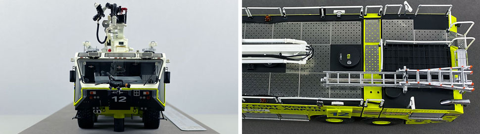 Closeup pictures 13-14 of Dallas/Fort Worth EZ 12 Oshkosh Striker 8x8 scale model