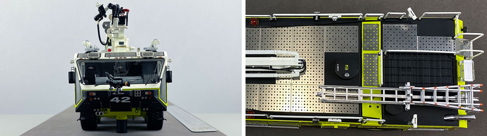 Closeup pictures 1-2 of Dallas/Fort Worth EZ 42 Oshkosh Striker 8x8 scale model
