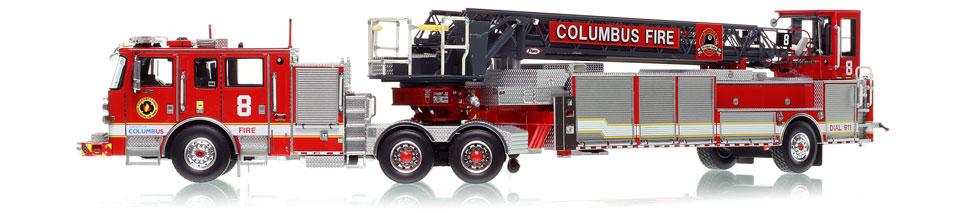 The first museum grade tandem axle tiller is the Columbus Pierce Arrow XT TDA
