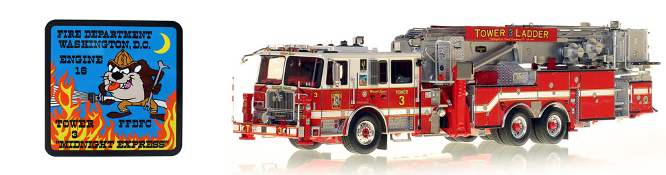 Midnight Express Seagrave Tower Ladder 3...now available to take home!