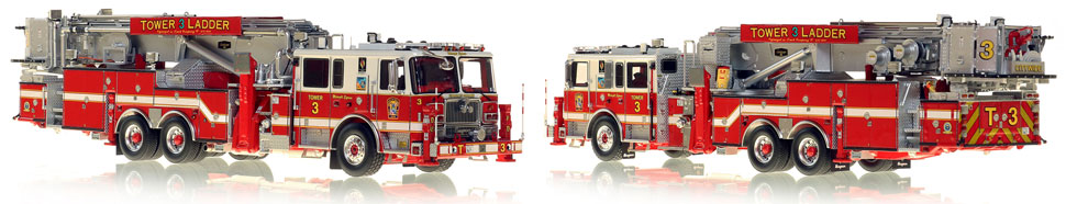 DC's Tower 3 scale model is hand-crafted and intricately detailed.