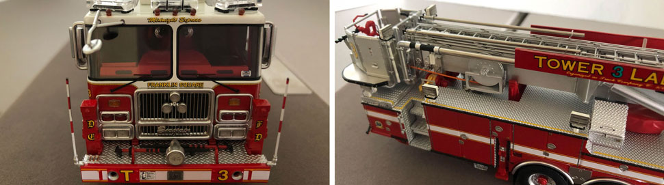 Close up images 1-2 of Midnight Express DC Tower 3 scale model