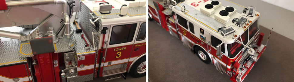 Close up images 9-10 of Midnight Express DC Tower 3 scale model