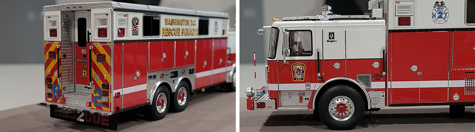 Close up images 3-4 of DC Fire & EMS Rescue 2 scale model