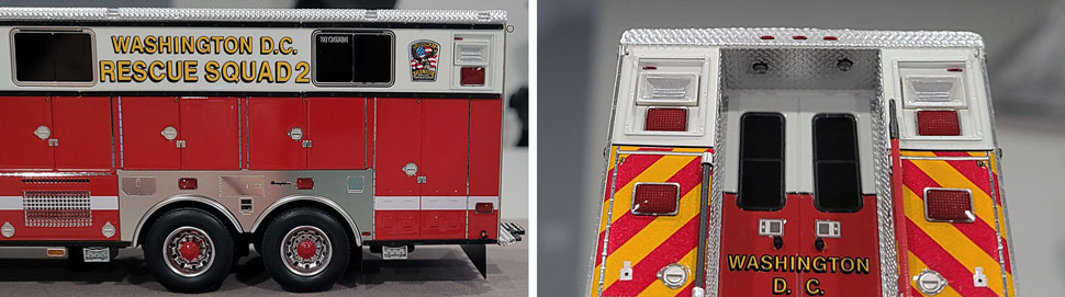 Close up images 5-6 of DC Fire & EMS Rescue 2 scale model