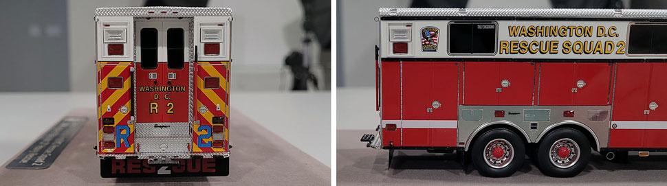 Close up images 7-8 of DC Fire & EMS Rescue 2 scale model