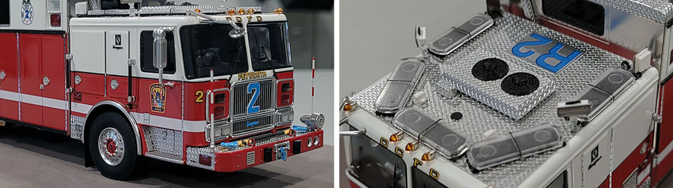 Close up images 9-10 of DC Fire & EMS Rescue 2 scale model