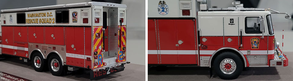 Close up images 11-12 of DC Fire & EMS Rescue 2 scale model