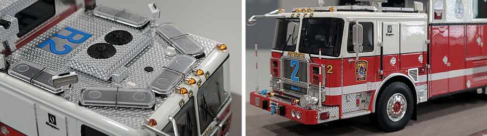 Close up images 13-14 of DC Fire & EMS Rescue 2 scale model